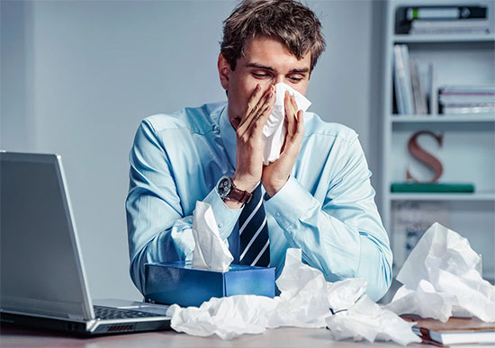Fewer pathogens in the workplace will result in less sick days.